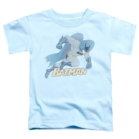Batman Running Retro Short Sleeve Toddler Tee Light Blue Md T-Shirt