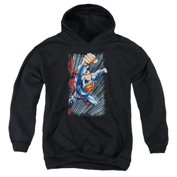Superman Faster Than Youth Pull Over Hoodie