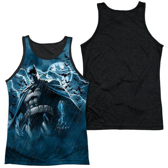Batman Stormy Knight Adult Poly Tank Top Black Back