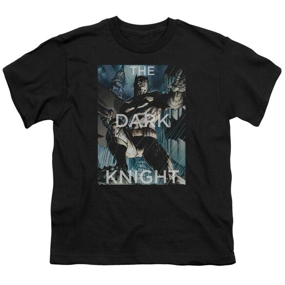 Batman Fighting The Storm Short Sleeve Youth T-Shirt