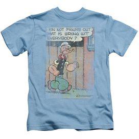 Popeye Puzzled Short Sleeve Juvenile Carolina Blue T-Shirt