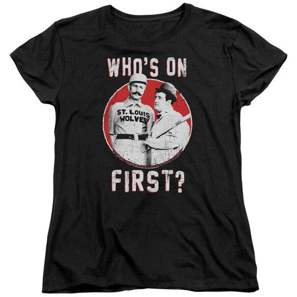 Abbott & Costello First Short Sleeve Womens Tee T-Shirt
