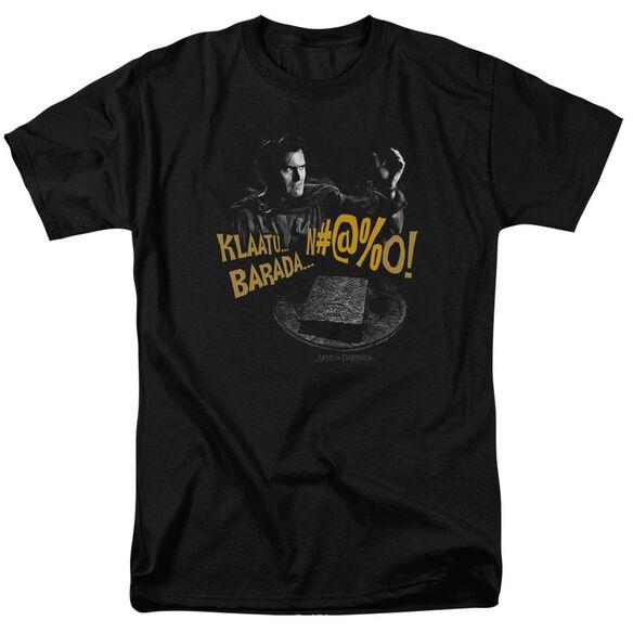 Army Of Darkness Klaatu...Barada Short Sleeve Adult T-Shirt