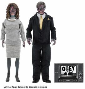 They Live Male & Female Aliens Clothed Action Figure [2 Pack]