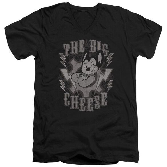 Mighty Mouse The Big Cheese Short Sleeve Adult V Neck T-Shirt