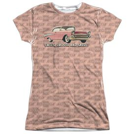 Chevrolet Pink And Black Days Short Sleeve Junior Poly Crew T-Shirt