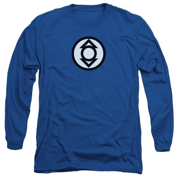 Green Lantern Indigo Tribe Long Sleeve Adult Royal T-Shirt