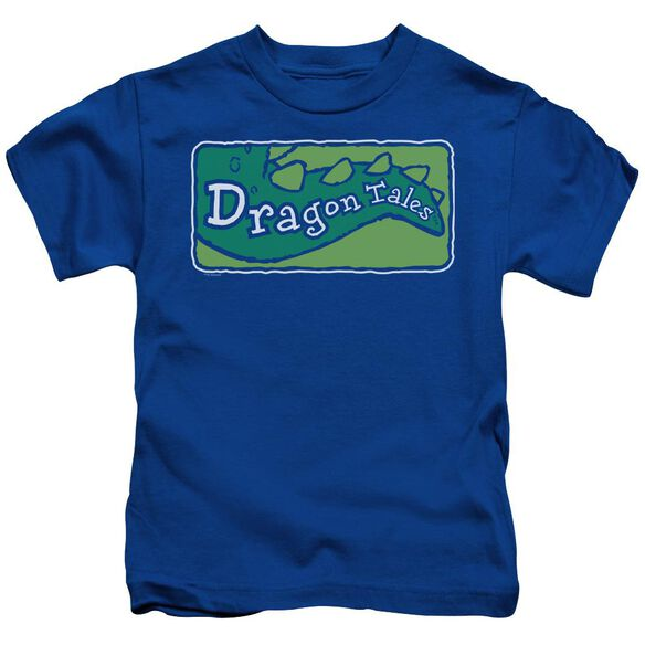 Dragon Tales Logo Clean Short Sleeve Juvenile Royal T-Shirt