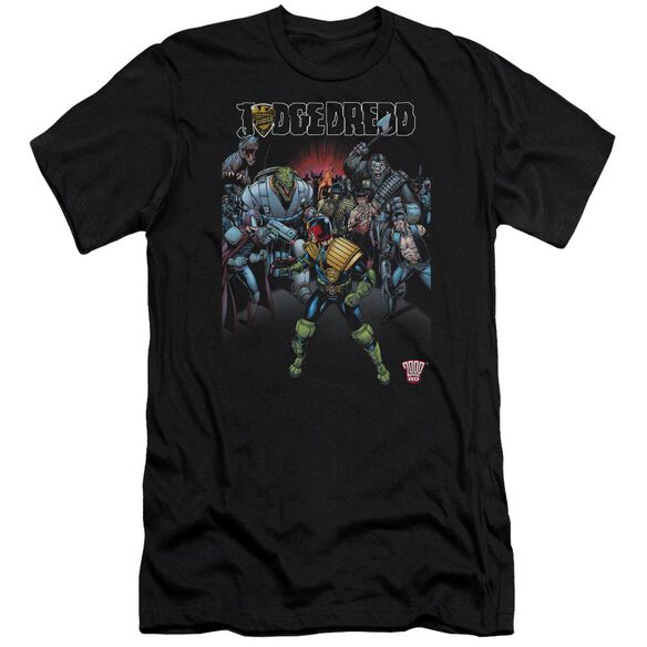 Judge Dredd Behind You Premuim Canvas Adult Slim Fit