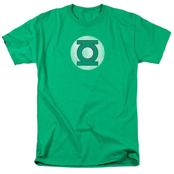 Dc Gl Logo Distressed Short Sleeve Adult Kelly T-Shirt