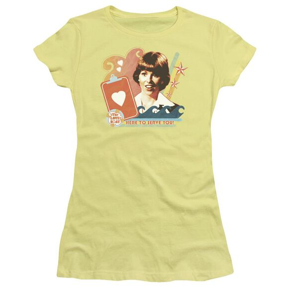 Love Boat Here To Serve Short Sleeve Junior Sheer T-Shirt