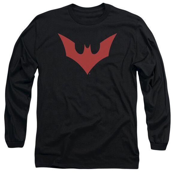 Batman Beyond Beyond Bat Logo Long Sleeve Adult T-Shirt