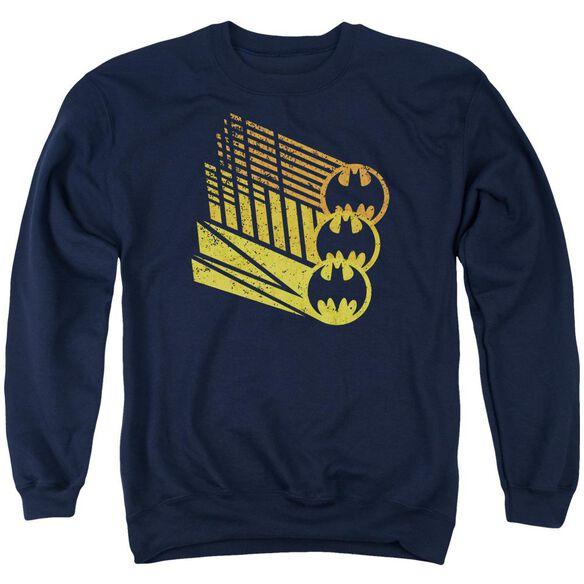Batman Bat Signal Shapes - Adult Crewneck Sweatshirt - Navy