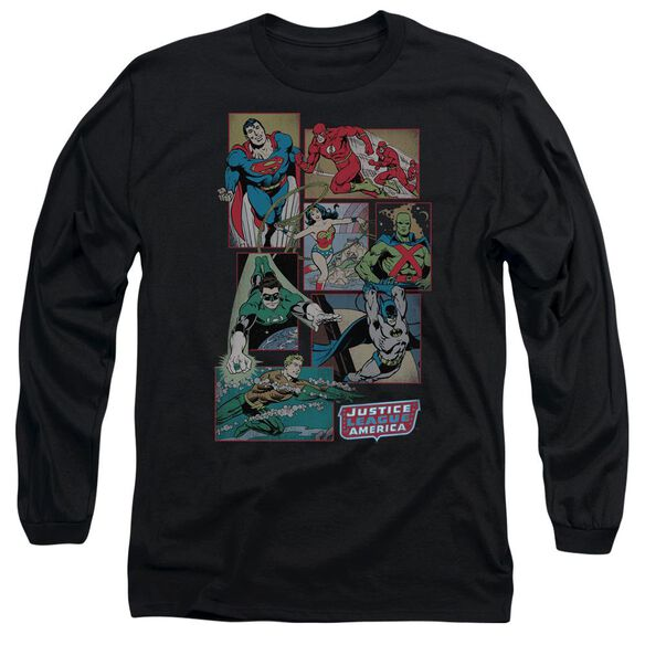 Dc Justice League Boxes Long Sleeve Adult T-Shirt