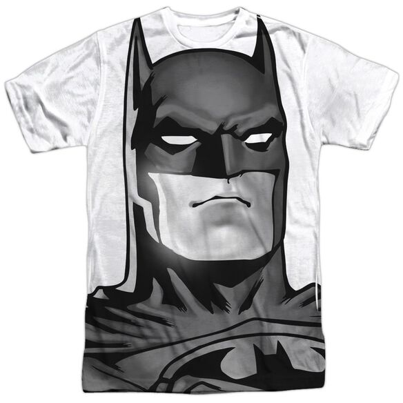 Batman Bw Bat Head Short Sleeve Adult Poly Crew T-Shirt