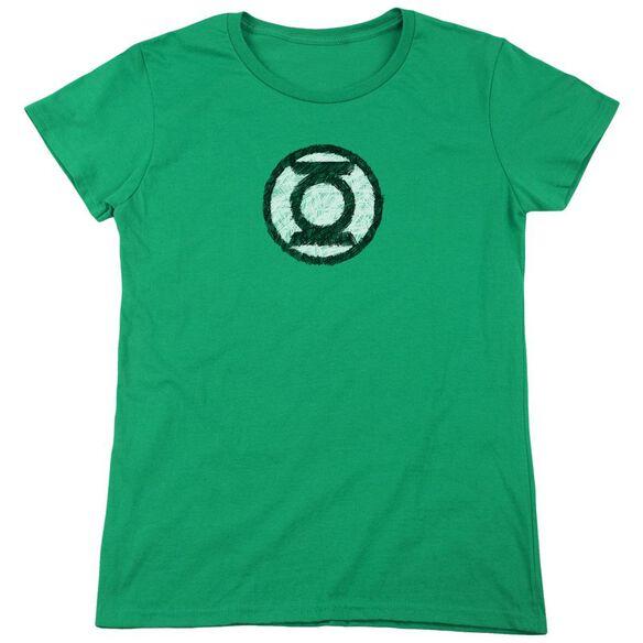 Lantern Scribble Lantern Logo Short Sleeve Womens Tee Kelly T-Shirt