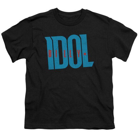 Billy Idol Logo Short Sleeve Youth T-Shirt