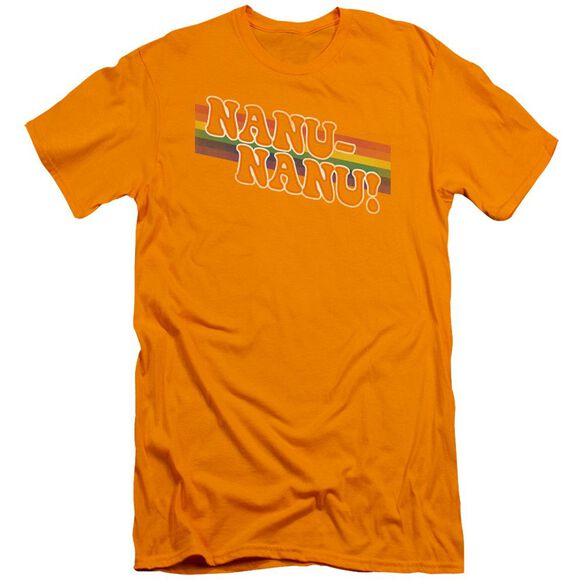 Mork & Mindy Nanu Rainbow Premuim Canvas Adult Slim Fit