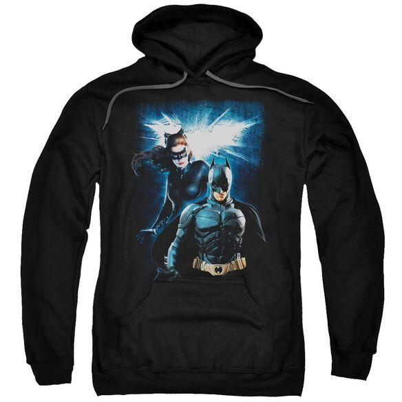 Dark Knight Rises Bat &Amp; Cat Adult Pull Over Hoodie