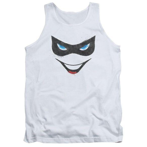 Batman Harley Face - Adult Tank - White