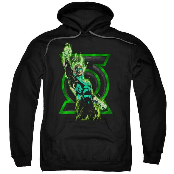 Green Lantern Fully Charged Adult Pull Over Hoodie