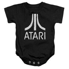 Atari Rough Logo Infant Snapsuit Black Sm