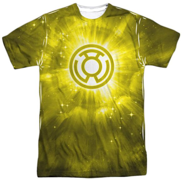 Green Lantern Yellow Energy Short Sleeve Adult 100% Poly Crew T-Shirt