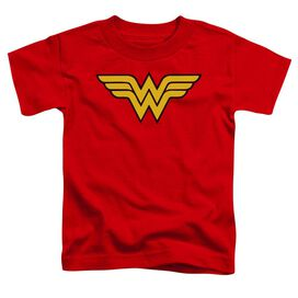 Dc Wonder Woman Logo Short Sleeve Toddler Tee Red Sm T-Shirt
