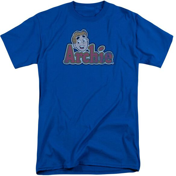 Archie Comics Distressed Archie Logo Short Sleeve Adult Tall Royal T-Shirt