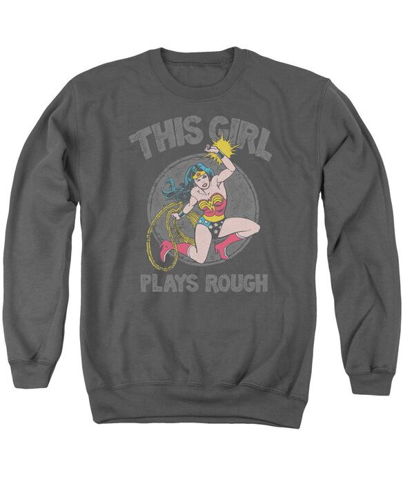 Dc Plays Rough Adult Crewneck Sweatshirt