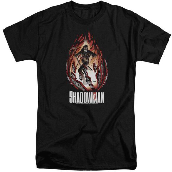 Shadowman Burst Short Sleeve Adult Tall T-Shirt