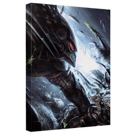 Predator Face Off Canvas Wall Art With Back Board