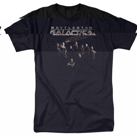 BATTLESTAR GALACTICA BATTLE CAST - S/S ADULT 18/1 - BLACK T-Shirt