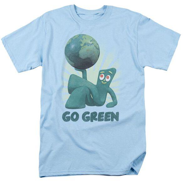 GUMBY GO GREEN - S/S ADULT 18/1 - LIGHT BLUE T-Shirt