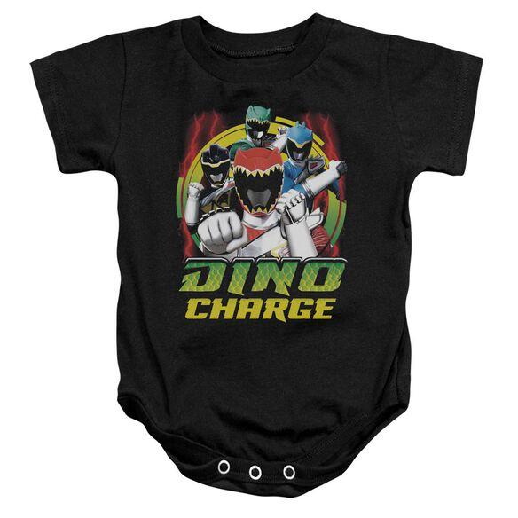 Power Rangers Dino Lightning Infant Snapsuit Black