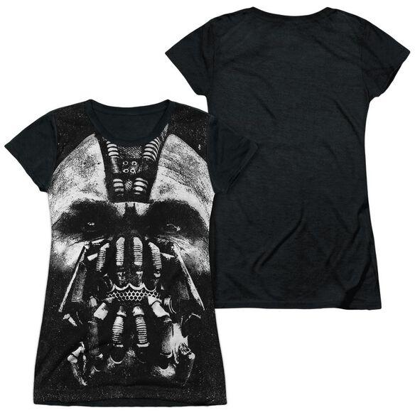 Dark Knight Rises Big Bane Head Short Sleeve Junior Poly Black Back T-Shirt