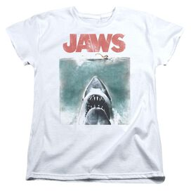 Jaws Vintage Poster Short Sleeve Womens Tee T-Shirt