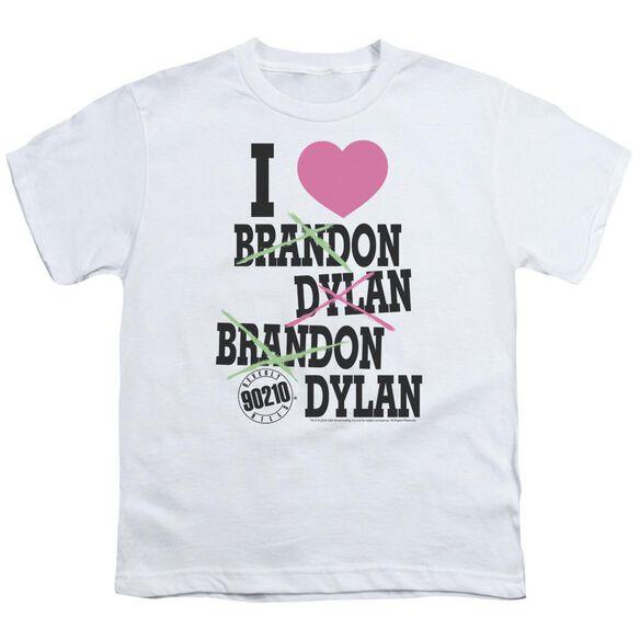 90210 I Heart 90210 Short Sleeve Youth T-Shirt