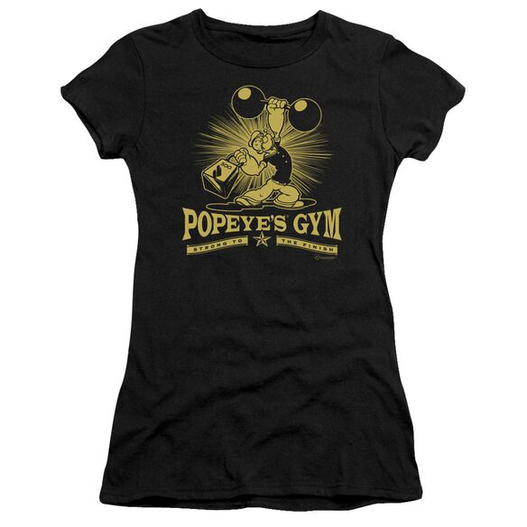 Popeye Popeyes Gym Short Sleeve Junior Sheer T-Shirt