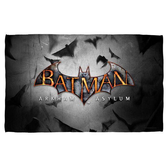 Batman Arkham Asylum Logo Towel White
