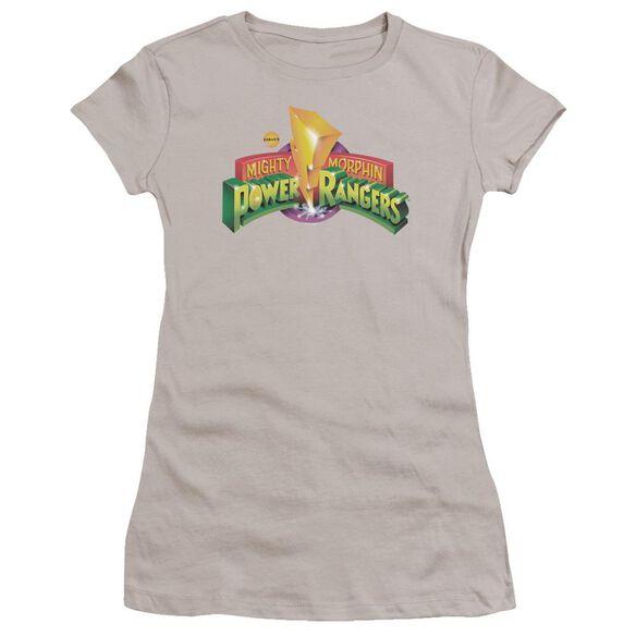 Power Rangers Mmpr Logo Premium Bella Junior Sheer Jersey