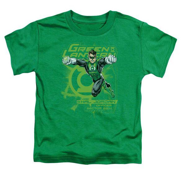 Green Lantern Sector 2814 Short Sleeve Toddler Tee Kelly Green Md T-Shirt