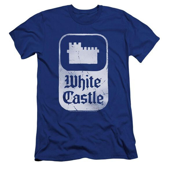 White Castle Classic Logo Premuim Canvas Adult Slim Fit Royal