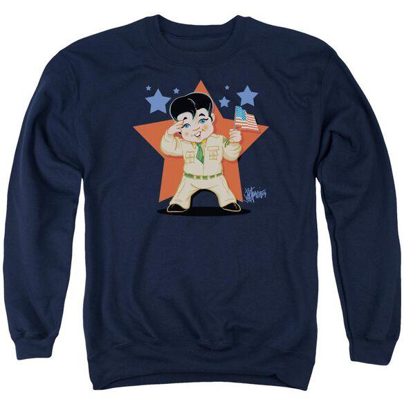 Elvis Lil G I Adult Crewneck Sweatshirt