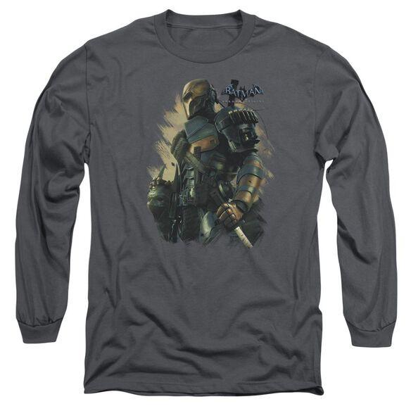 Batman Arkham Origins Deathstroke Long Sleeve Adult T-Shirt
