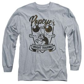 Popeye Weight Training Long Sleeve Adult Athletic T-Shirt
