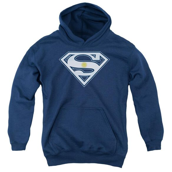 Superman Argentinian Shield Youth Pull Over Hoodie