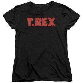 T Rex Logo Short Sleeve Womens Tee T-Shirt