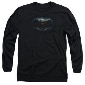 Batman V Superman Logo Long Sleeve Adult T-Shirt
