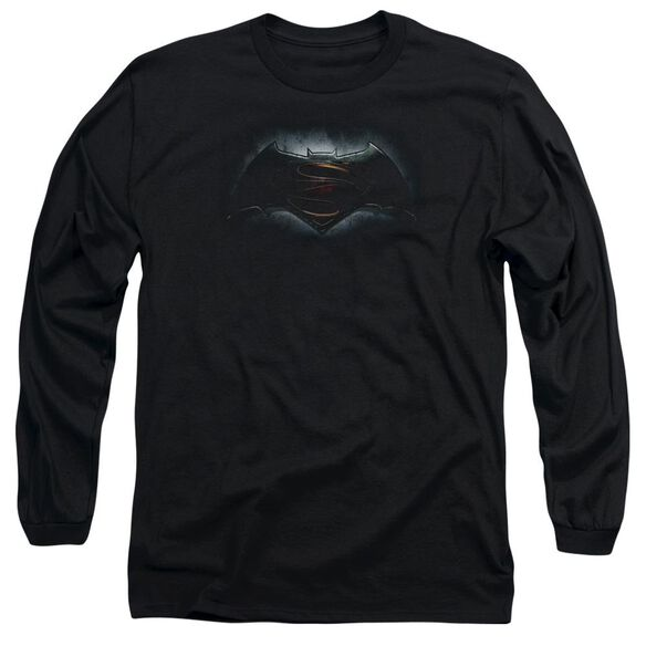Batman V Superman Logo Long Sleeve Adult T-Shirt